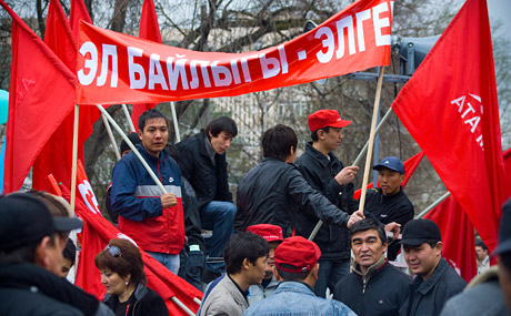 Opposition Rally on 27, March 2009, Bishkek, Kyrgyzstan, photo by Timur Rayimkulov