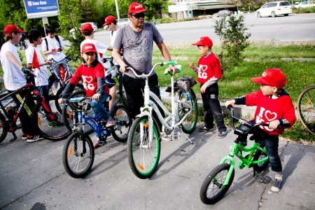 Бишкекчане вышли на велопробег