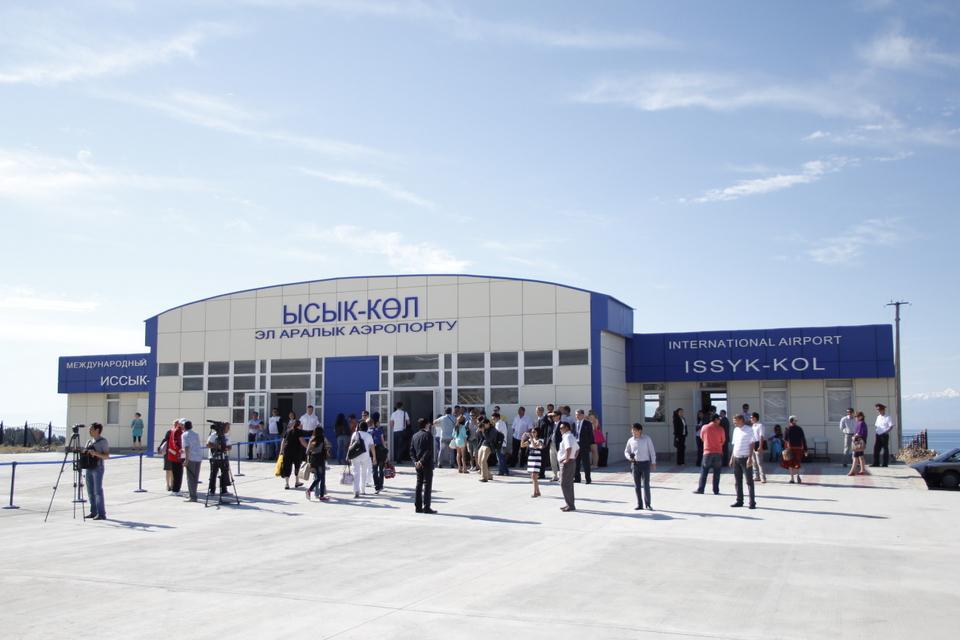 Аэропорт Тамчы принял первый рейс из Алматы