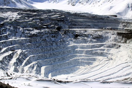 Рудник Кумтор зимой
