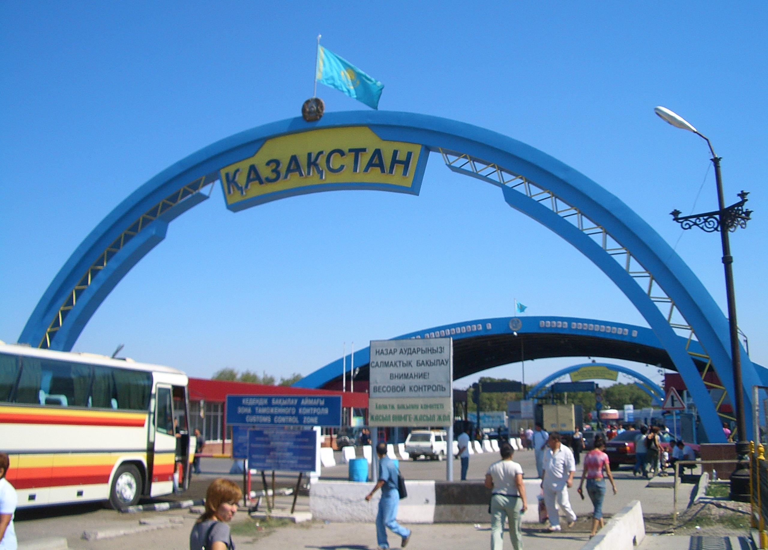 """""""Кордай"""" - пропускной пункт на границе Кыргызстана с Казахстаном"""