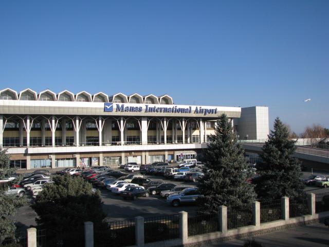 """Здание первого терминала бишкекского аэропорта """"Манас""""."""