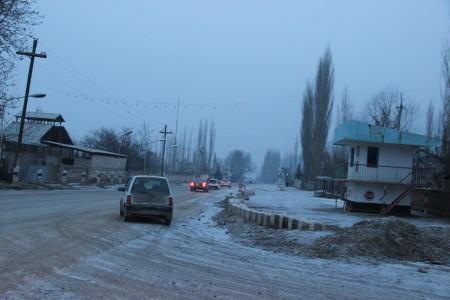 Поворот на анклав Сох в Баткенской области