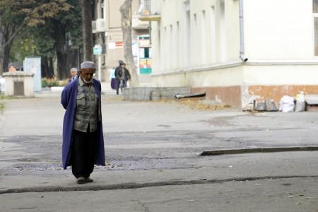Старик на улицах Душанбе