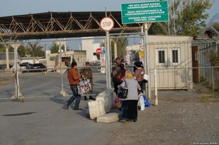 КПП на кыргызско-узбекской границе