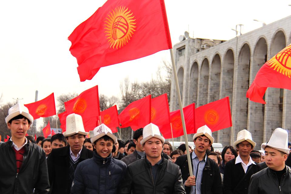 Празднование Дня флага Кыргызстана в Бишкеке.