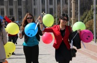 Подобная акция проводится в Бишкеке впервые.
