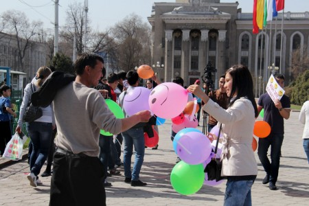 В ней было задействовано около тридцати студентов из разных университетов столицы.