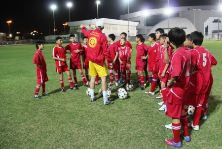 Вечерняя тренировка сборной Кыргызстана