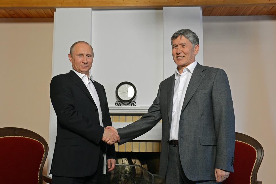 Встреча Путина и Атамбаева