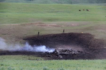 Крушение американского военного самолета на севере Кыргызстана