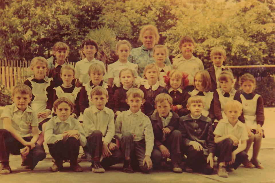 1980 год, 1 класс, школа №34, Бишкек.