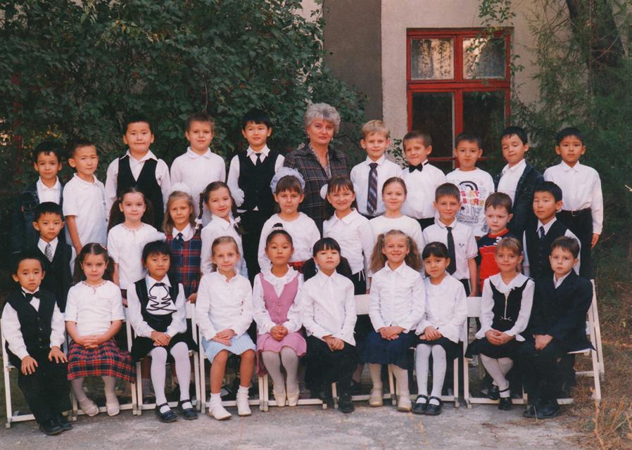 2003 год, 1 класс, школа №13, Бишкек.