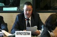 Заместитель генпрокурора КР Улан Халдаров отчитывается в Комитете ООН против пыток. 2013 год.