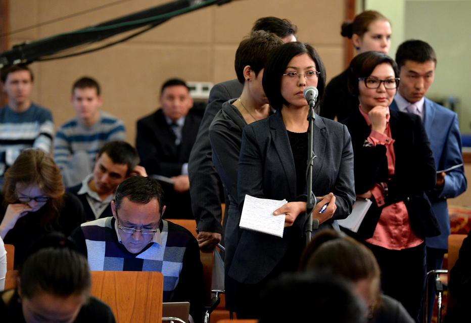 Пресс-конференция Атамбаева собрала 80 журналистов из 66 СМИ.