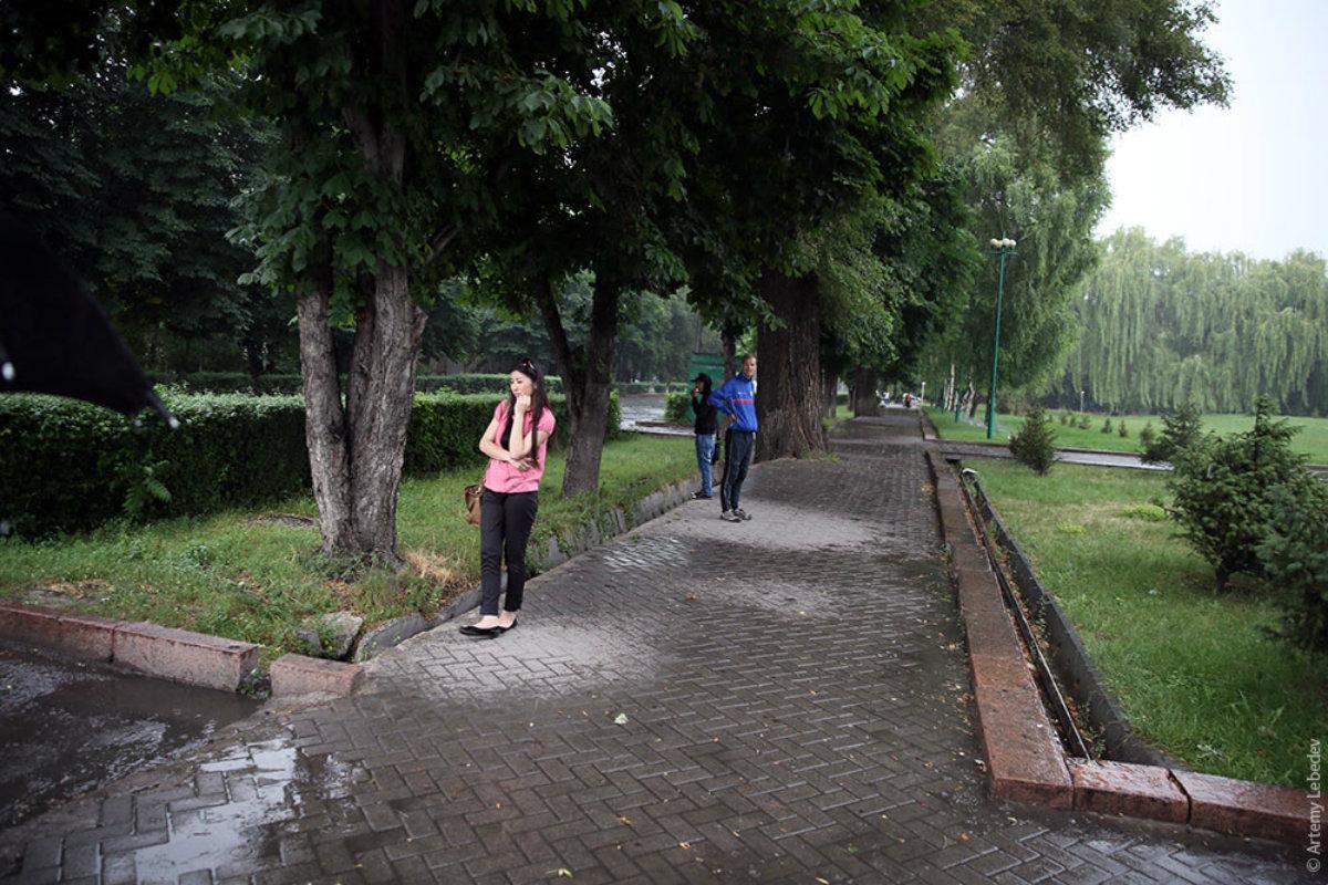 Снимок Артемия Лебедева, которым он продемонстрировал, насколько Бишкек зелёный.