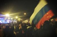 """Центральная площадь Симферополя после объявления результатов. Фото: Шон Уокер, """"Твиттер"""", @shaunwalker7"""