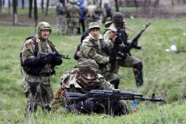 """Власти Украины называют неизвестных вооружённых людей """"сепаратистами""""."""