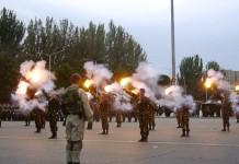 Парад в честь Дня вооруженных сил Кыргызстана
