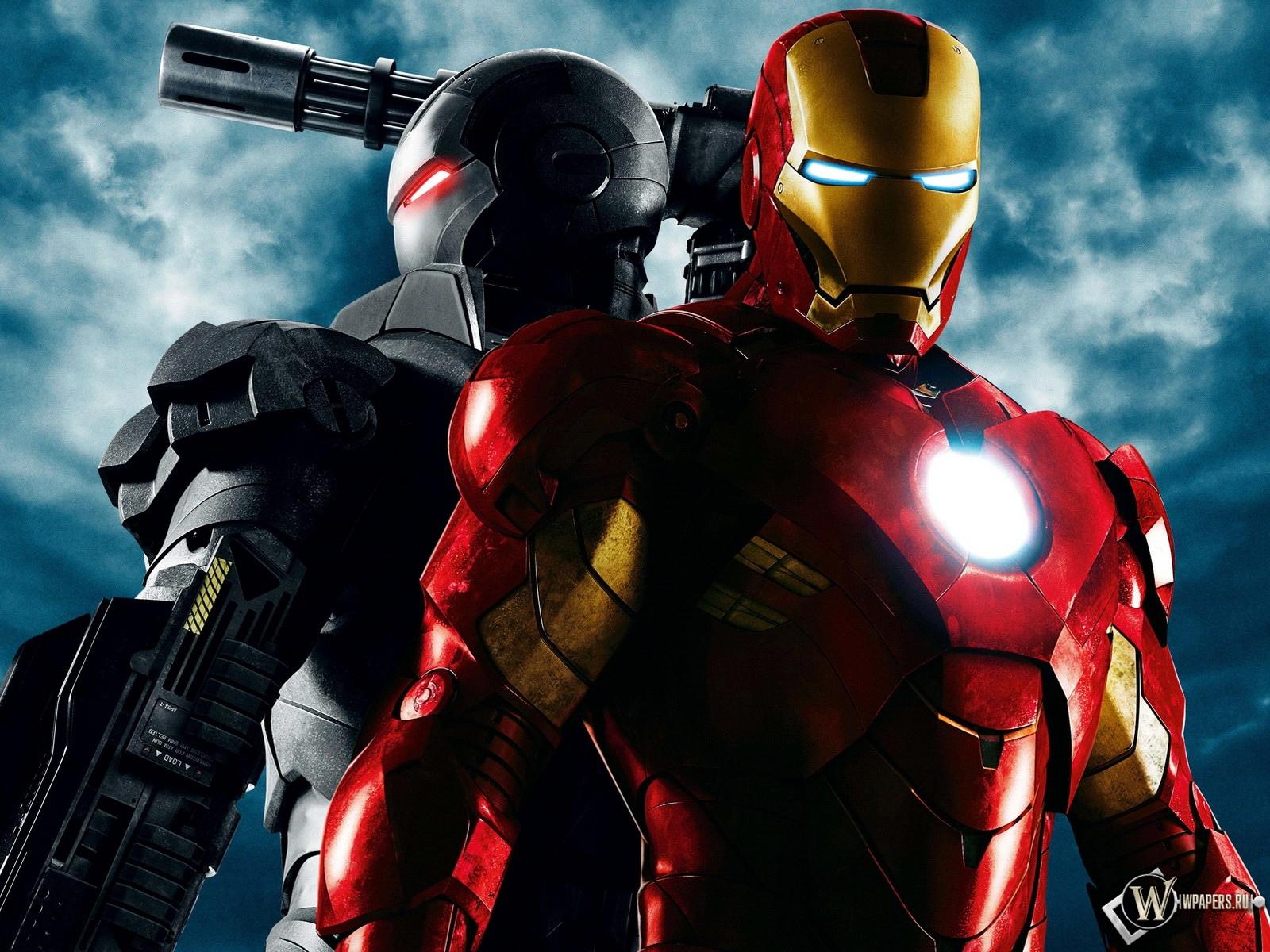 Железный человек (на переднем плане) и Воитель (на заднем).