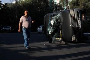 авария в Бишкеке, маршрутка