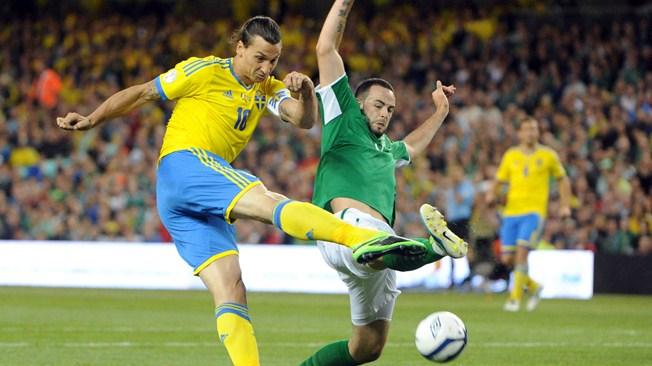 Капитан и главная звезда сборной Швеции по футболу Златан Ибрагимович.