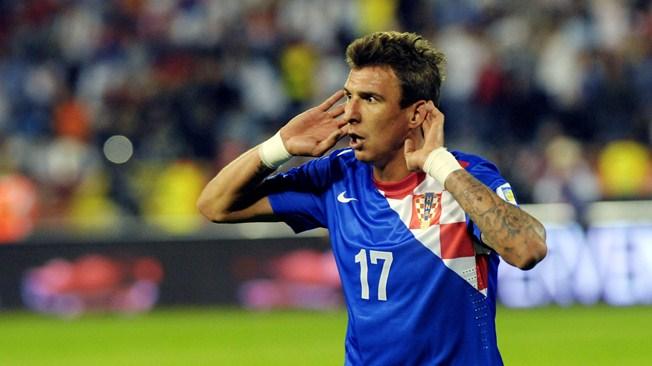 Главный забивала сборной Хорватии Марио Манджукич.