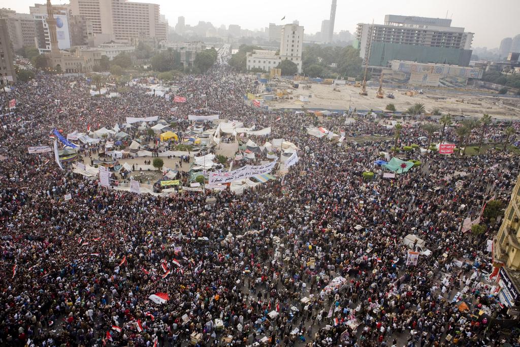 Площадь Тахрир в Египте, 2011 год.