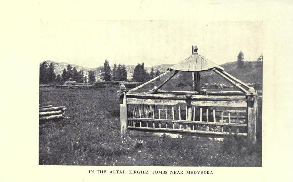 На Алтае: могила неизвестного кыргыза возле поселения Медведка.