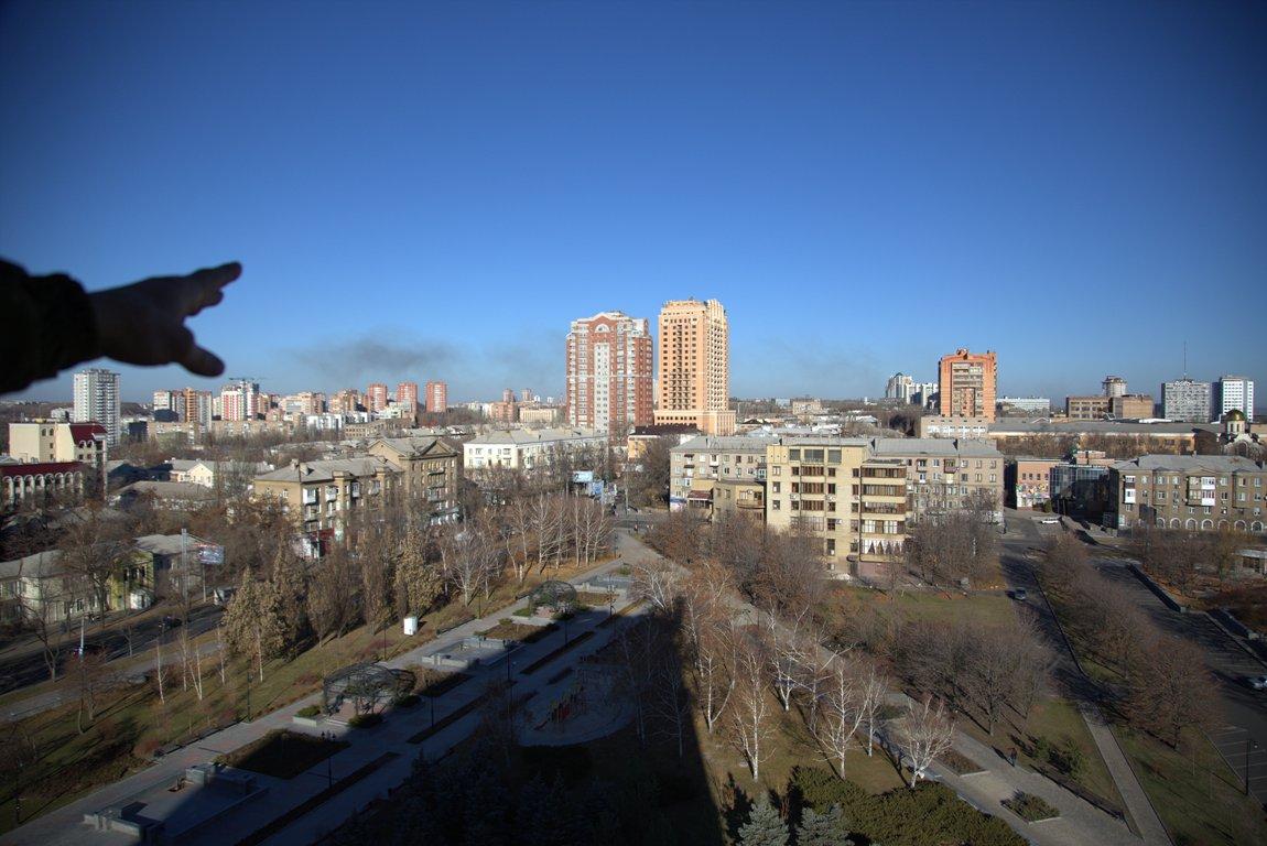 Вид на Донецк с верхнего этажа бывшей обладминистрации