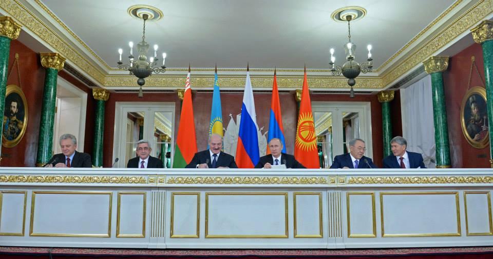 Президенты пяти стран-членов ЕАЭС: России, Казахстана, Армении, Кыргызстана и Беларуси.