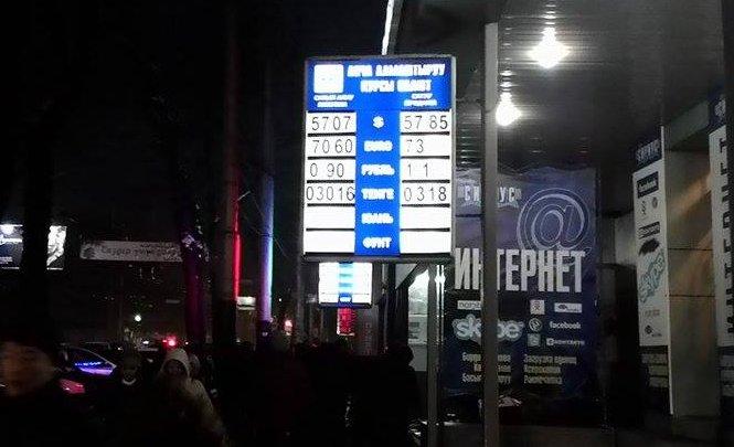 Курс валют в бишкекских обменниках к концу дня.