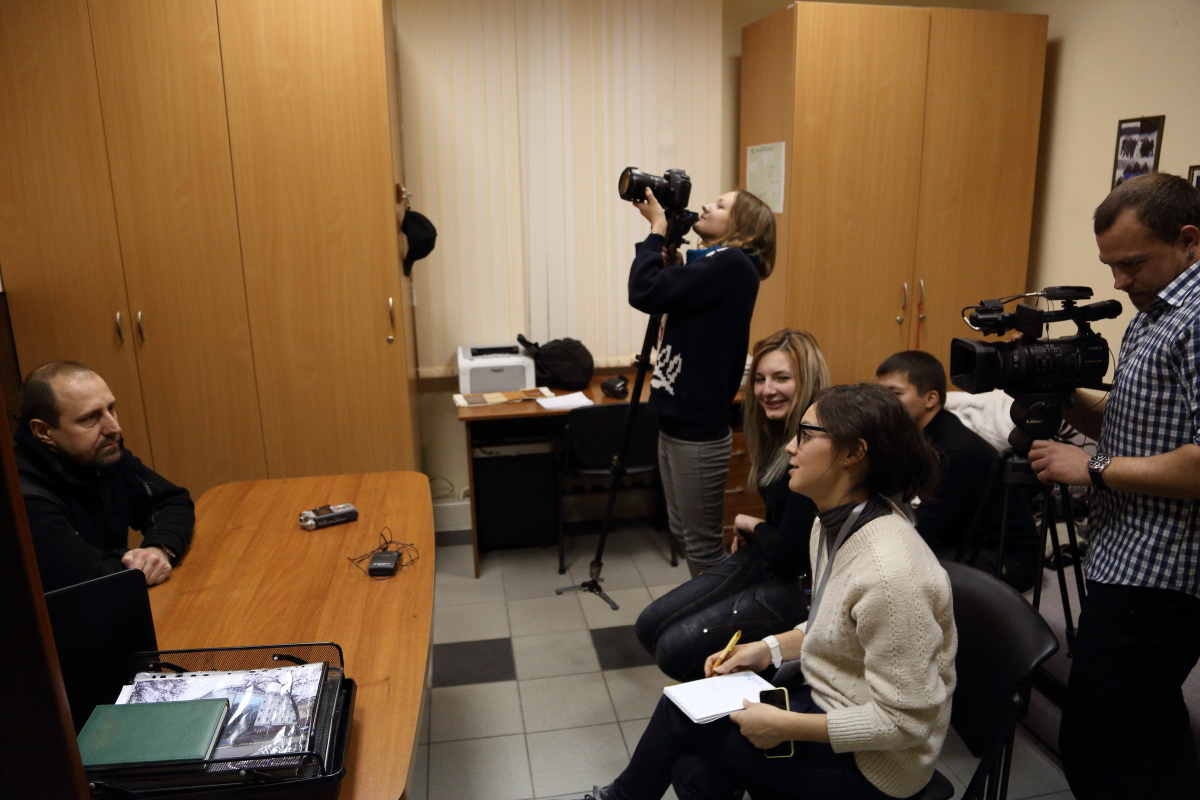 Группа журналистов из Кыргызстана.