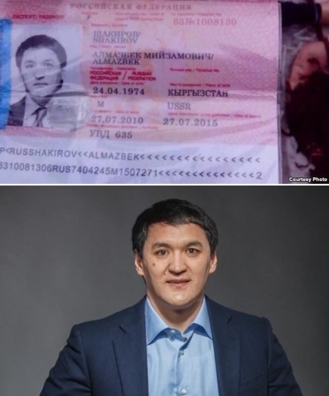 """Фото паспорта """"Алмазбека Шакирова"""" и фото Алманбета Анапияева с сайта Национальной федерации борьбы на поясах - алыш, 2013 год."""