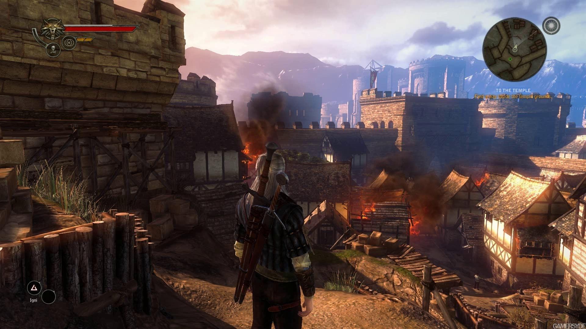 """Скриншот из игры """"Ведьмак 2"""""""