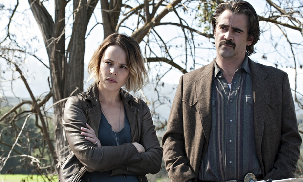 Rachel McAdams and Colin Farrell investigate in True Detective. Photograph: Lacey Terrell/HBO