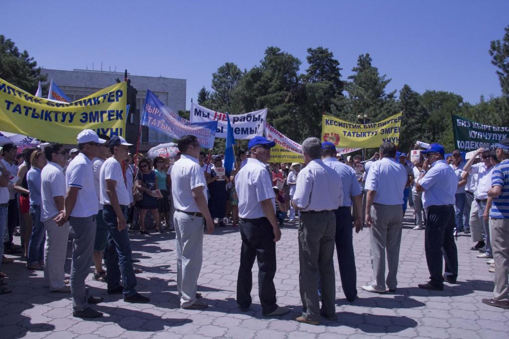 митинг профсоюзов в Бишкеке_2