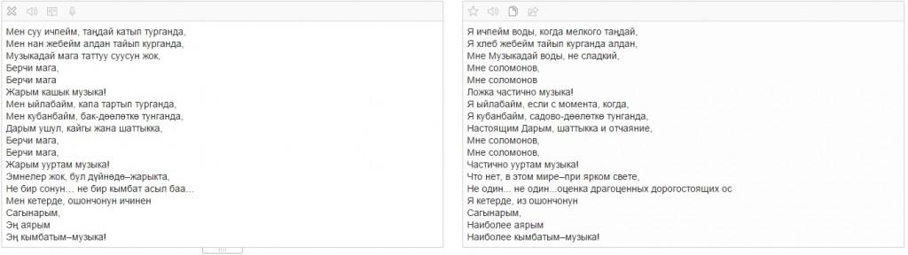 """Перевод стихотворения Алыкула Осмонова """"Музыка"""" с кыргызского языка на русский."""