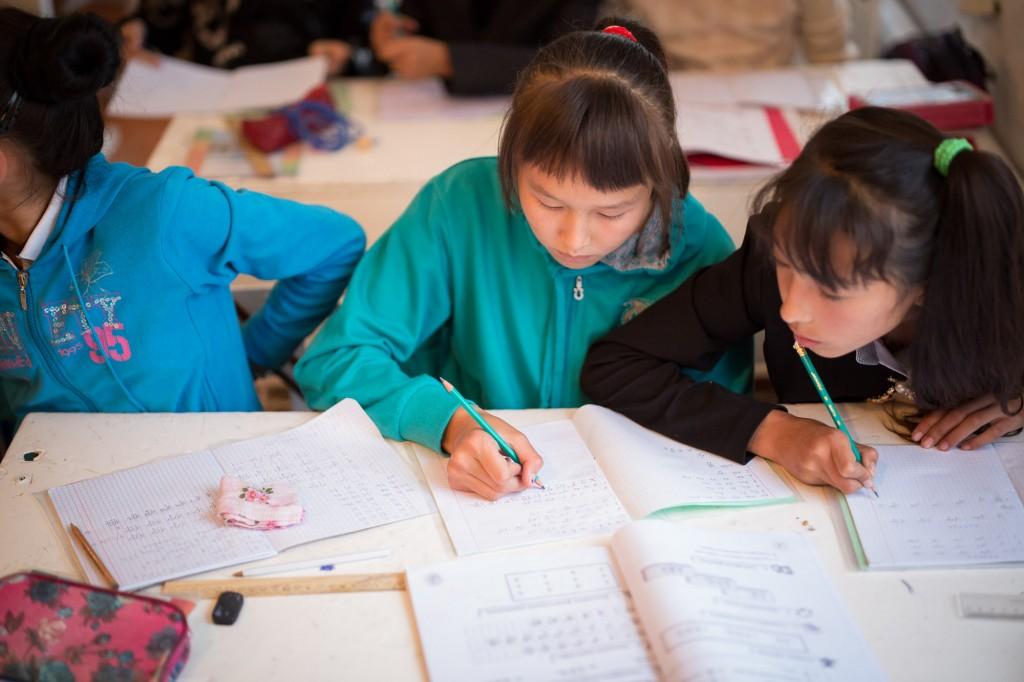 Каракол, Кыргызстан. Школьники разных этносов изучают китайский