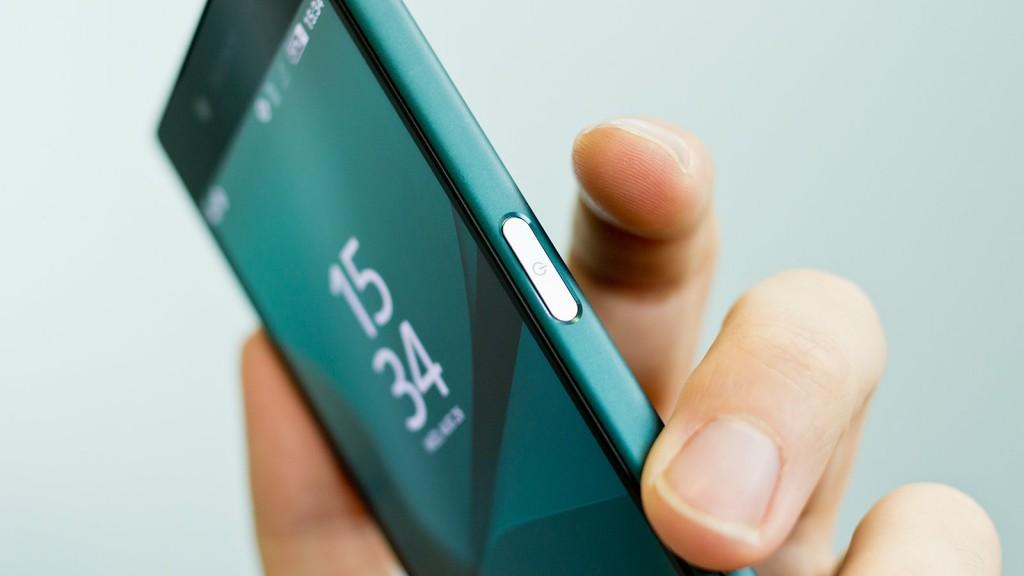 Сканер отпечатков пальцев встроен в кнопку блокировки
