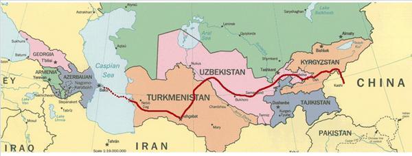 Китай-Кыргызстан-Узбекистан.