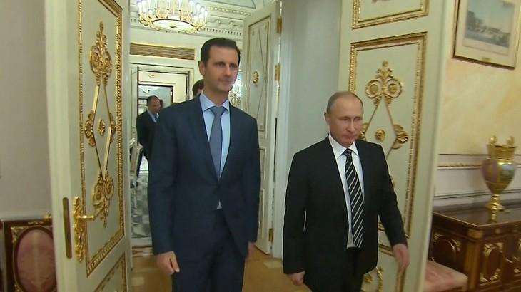 Президент Сирии Башар Асад и президент России Владимир Путин.
