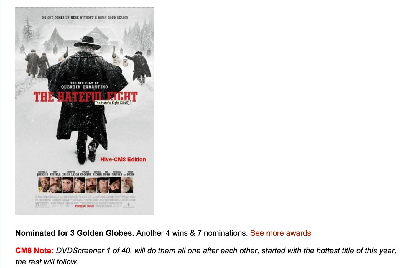 Пометка, в которой хакеры обещают слить 40 фильмов