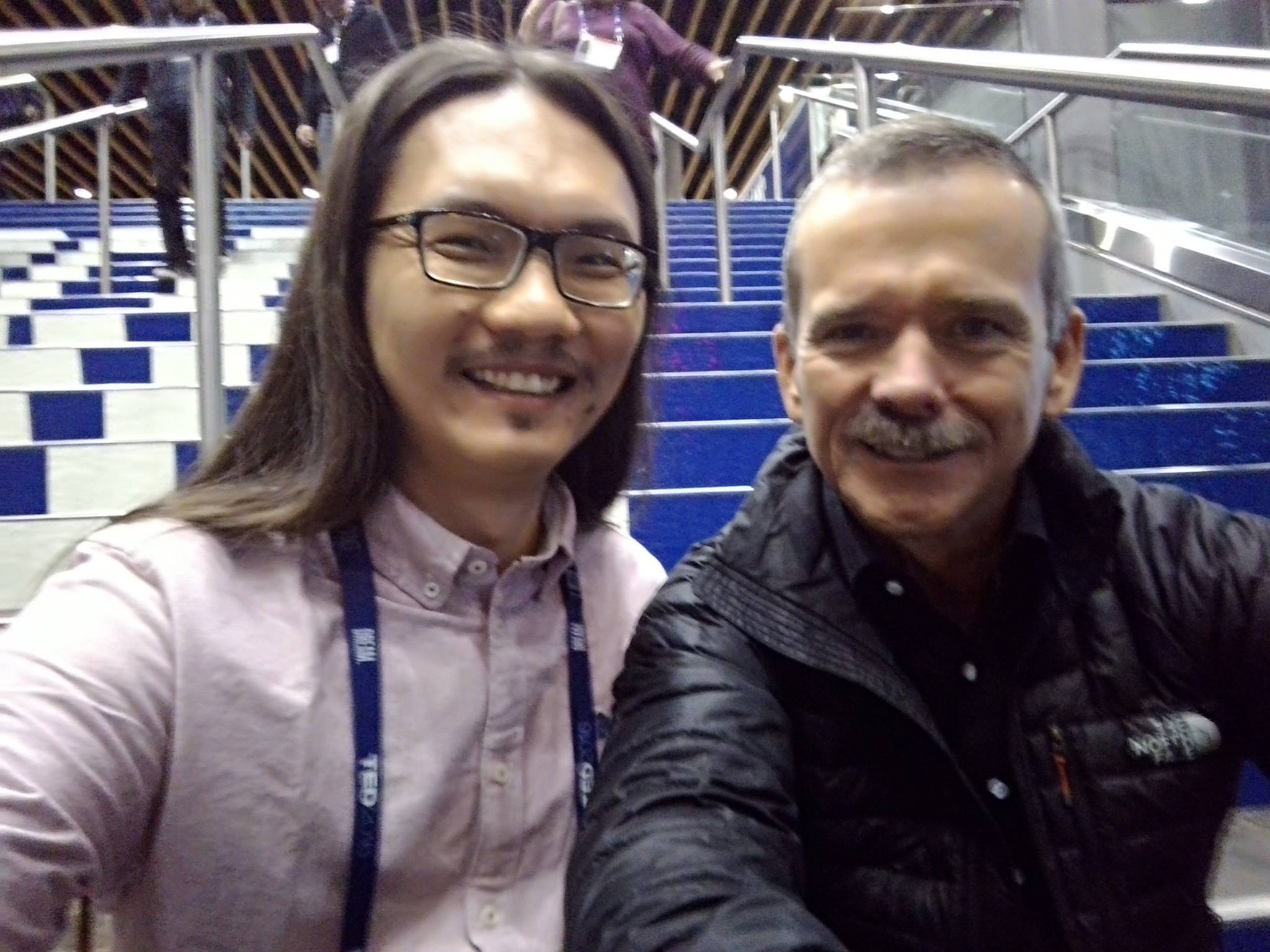 С астронавтом Крисом Хэдфилдом