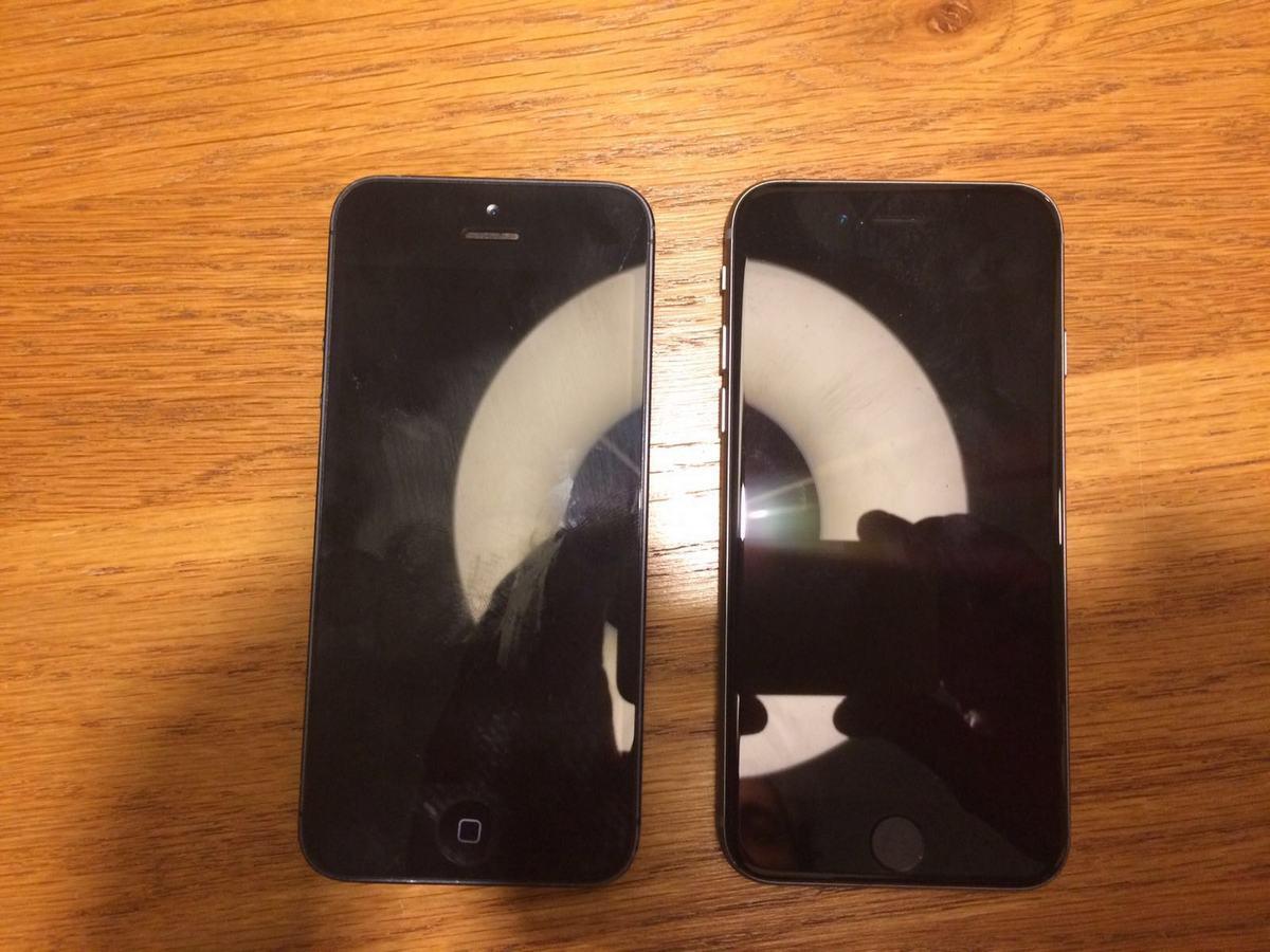 Предполагаемый iPhone 5se (справа) и iPhone 5 (слева)