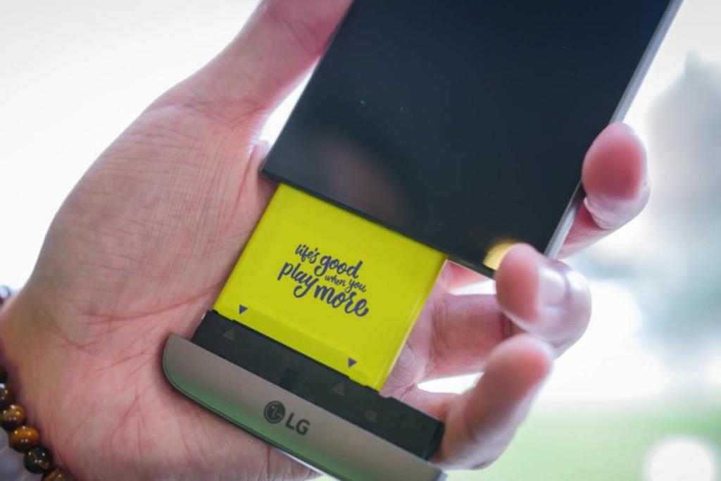 Сменный модуль у LG G5