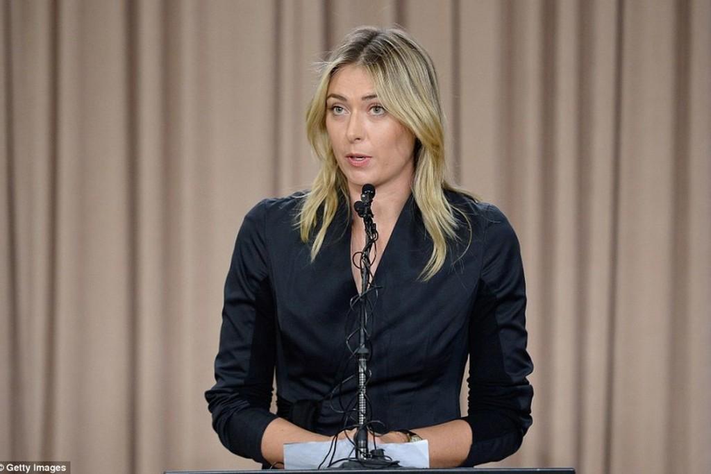 Мария Шарапова на пресс-конференции в Лос-Анджелесе