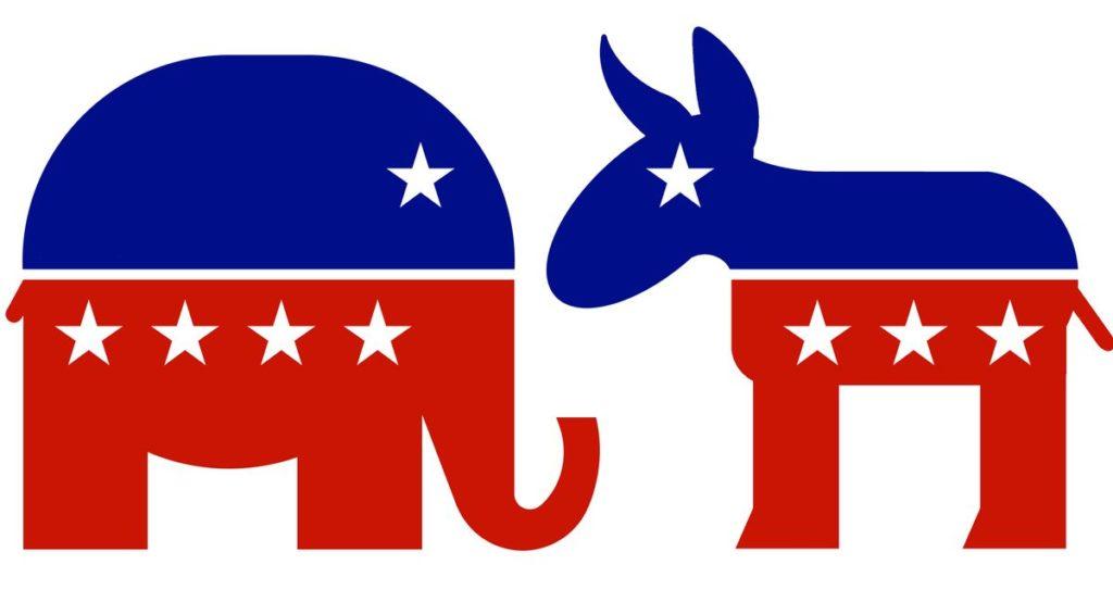 Слон – символ Республиканской партии. Осёл – символ демократов