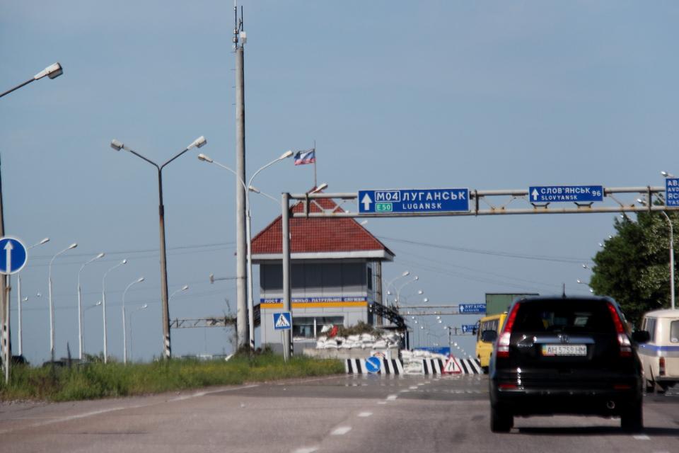 Блокпост ДНР к западу от Донецка, май 2014 года. Фото: Бектур Искендер / Kloop.kg
