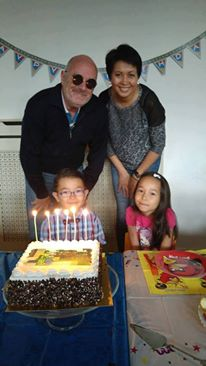 Клайд Форсберг со своей семьей